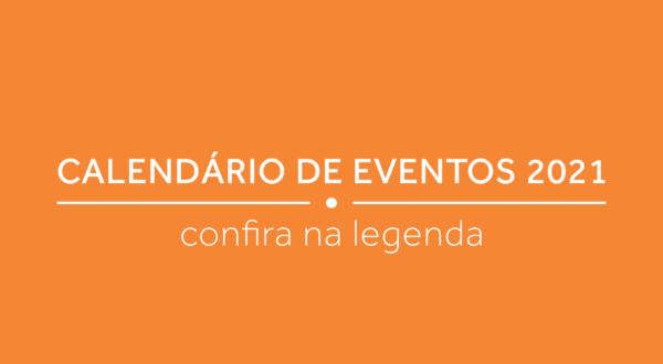 Calendário de eventos para 2021