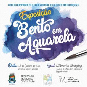 Exposição Bento em Aquarela @ L'America Shopping