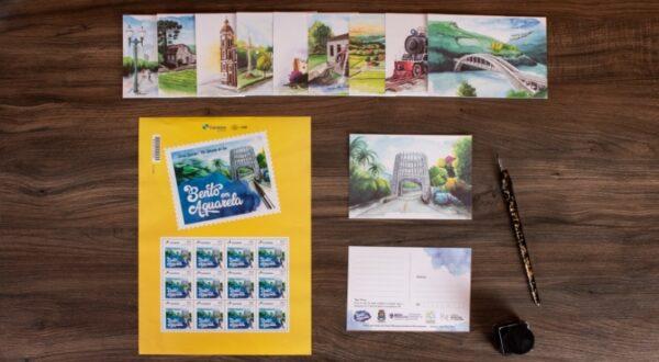 Cartões-postais do Projeto Bento em Aquarela são enviados para todo o Brasil
